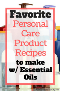 personal care product recipes
