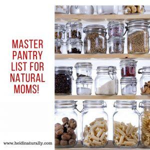 master pantry list