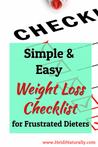 weight loss checklist