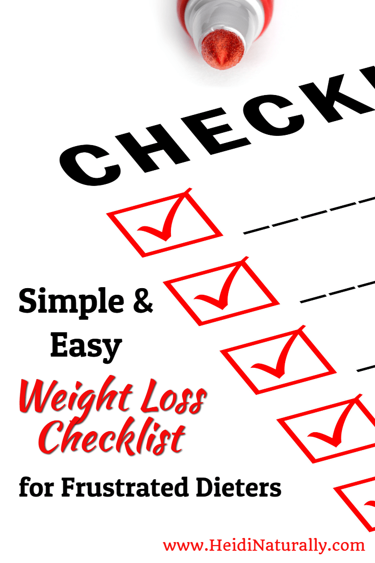 Find out how to achieve weight loss success with this easy checklist. Learn the 3 simple steps using natural and non-chemical products to reach your goals.