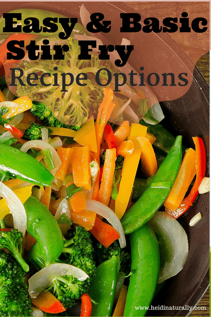 Learn how to make stir fry with all these easy recipe options. Get my favorite recipe and how I use it and adapt it depending on what you have on hand.