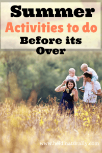 Summer Activities to Do Before It's Over!