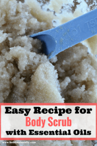Easy Natural Lip Scrub using Essential Oils