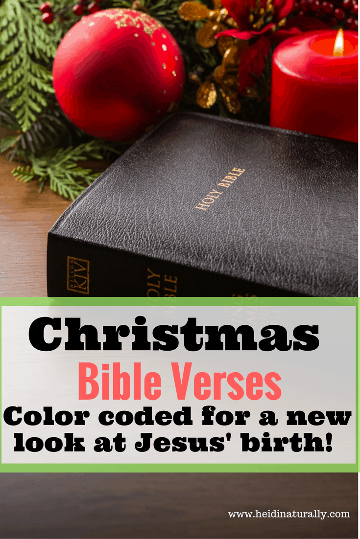 Read the Christmas Bible verses in a new way this year. Get them color coded by New Testament, Old Testament, and before, after & now.