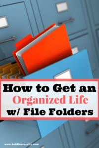Files – Get Organized with File Folders