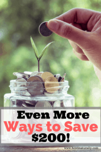 More Ways to Save $200 – Extra Money for Your Family