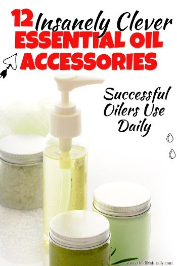 Find out the 12 insanely clever essential oil accessories & how to use them. Learn how they can help you use your oils safely & effectively. #essentialoil #accessories #carrieroils #jars #dryerballs