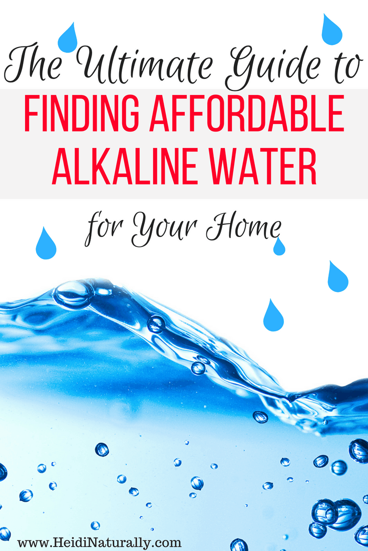 Finding affordable alkaline water