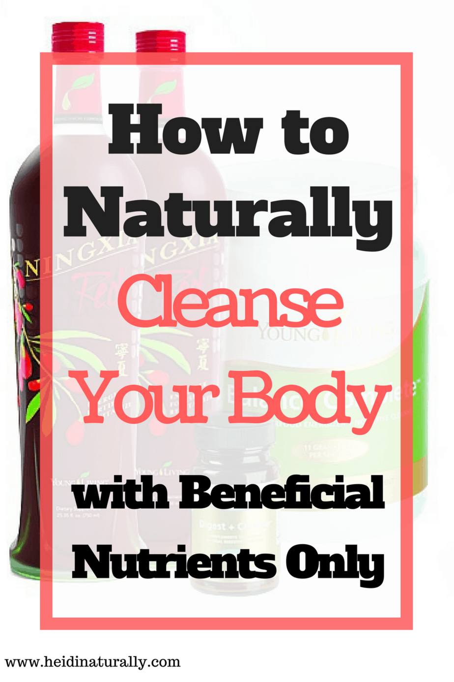 Cleanse body toxins with nutrients following this plan.  Maximize the right ingredients to create a way for your body to reset.