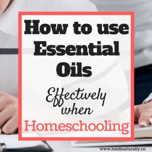 oils for homeschooling