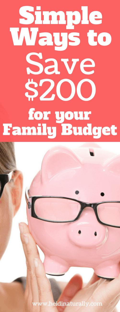 Find out simple ways to save $200. Learn from a one income family how to save with easy steps that anyone can implement and enjoy life.