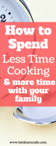 less time cooking