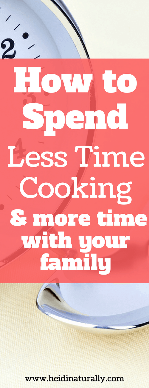 Find out how to spend less time cooking and more time enjoying your family. Learn the simple steps you can take once a week to make cooking easy again.