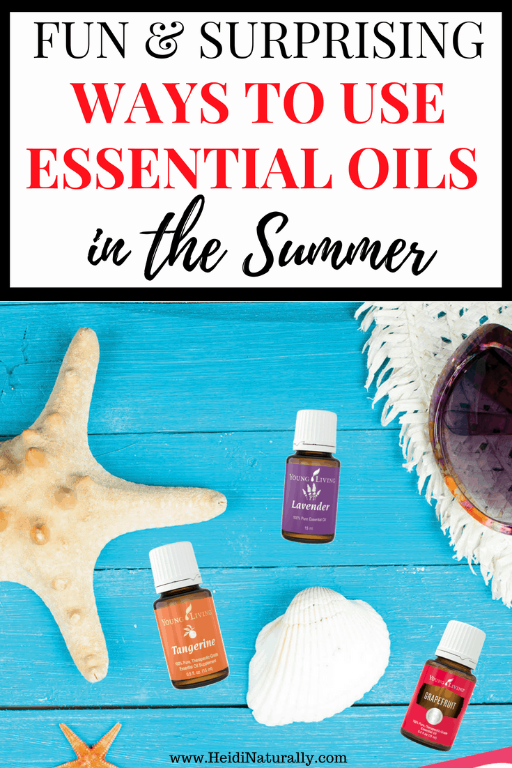 Find out the fun and surprising ways your family can use essential oils this Summer. Get the best recipes, products and options for using oils effectively. #summer #essentialoils #heidinaturally