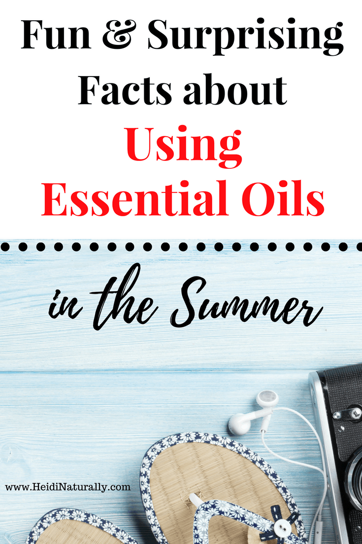 Find out how to use essential oils for summer wellness. Learn what oils are best to use & how to use them. Get recipes & ideas for success. #essentialoils #essentialoilsforsummer #summer