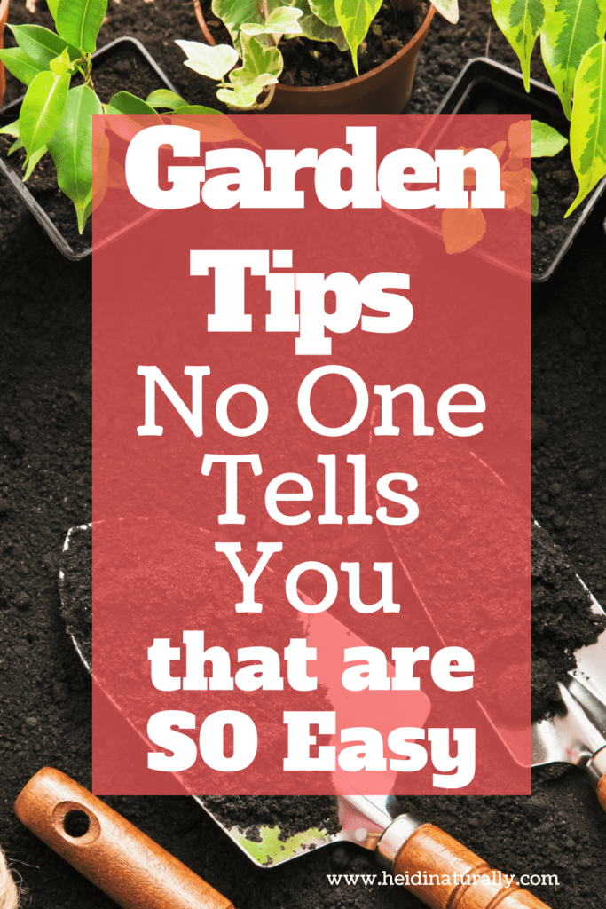 Easy garden tips for a successful garden.