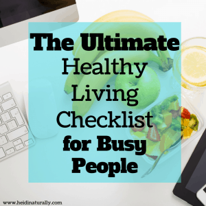 healthy living checklist