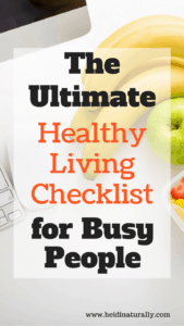 Learn healthy living made easy with this awesome checklist, complete with directions on ways to live a healthy life right away.