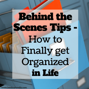 get organized in life