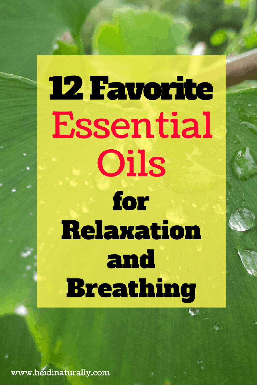relaxation and breathing http://heidinaturally.com/2018/01/01/favorite-essential-oils-diffuse-relaxation-breathing/