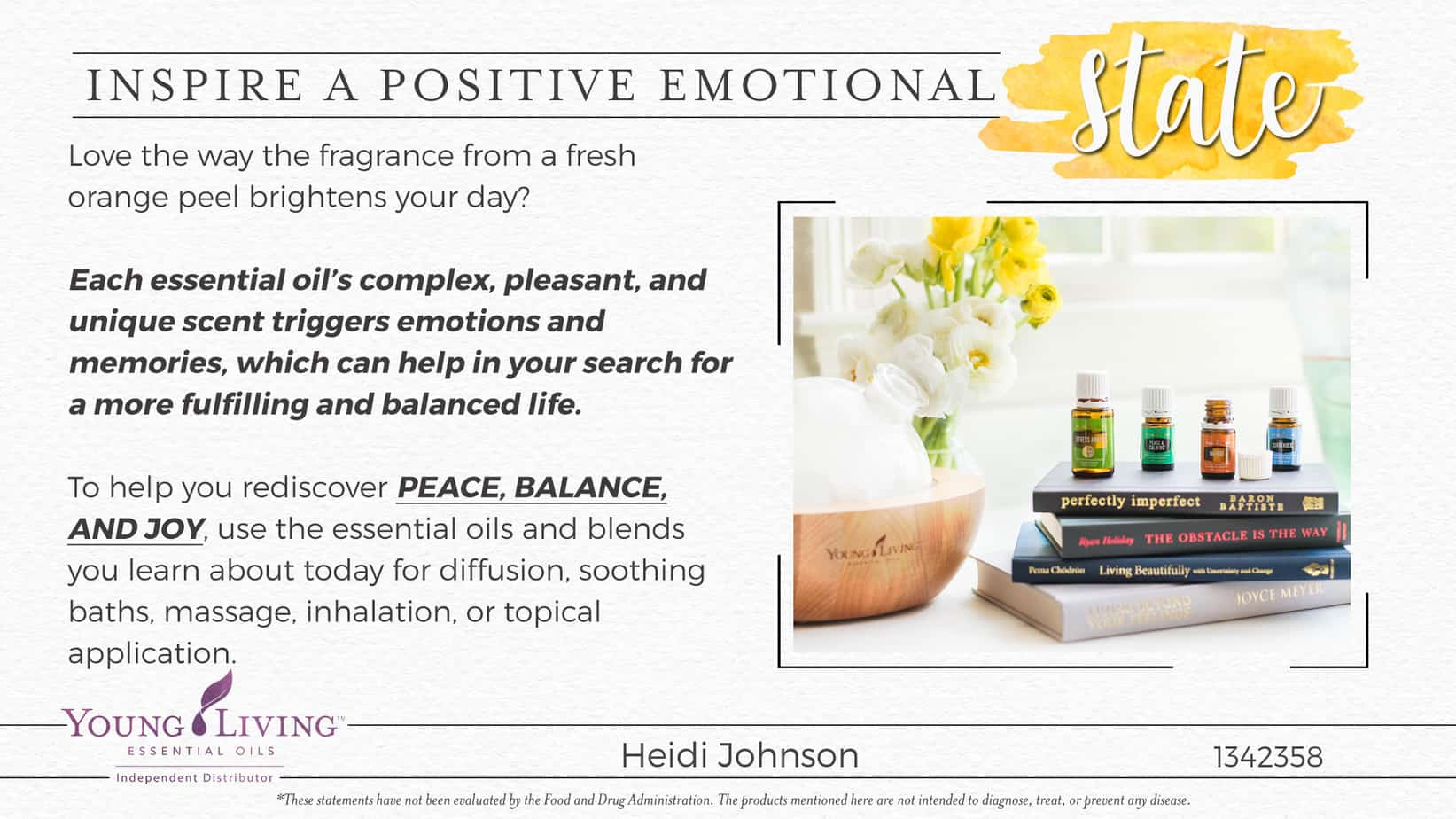 positive emotions with essential oils