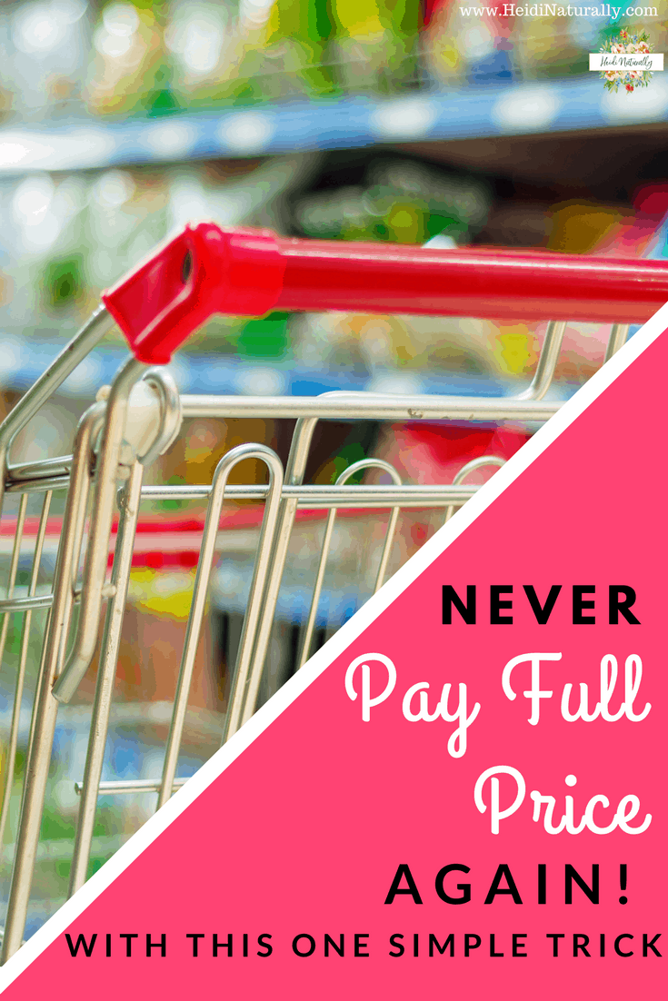 Find out how to buy what you need but never pay full price again. This simple system works for our family and all the details are shared here. No more extreme couponing. Always get 20% off on almost anything your family needs. #neverpayfullprice