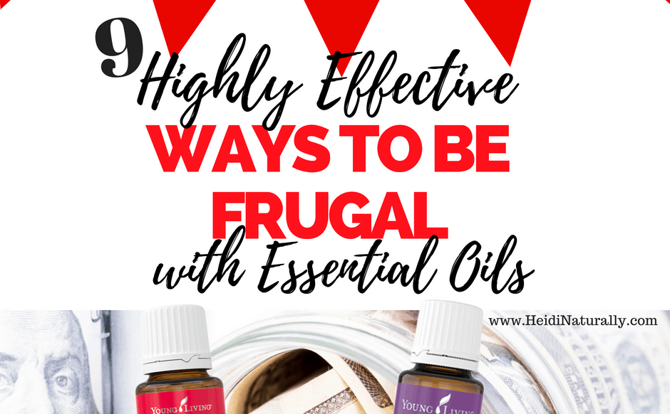 ways to be frugal with oils