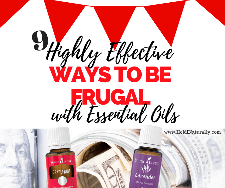 how to be frugal with essential oills