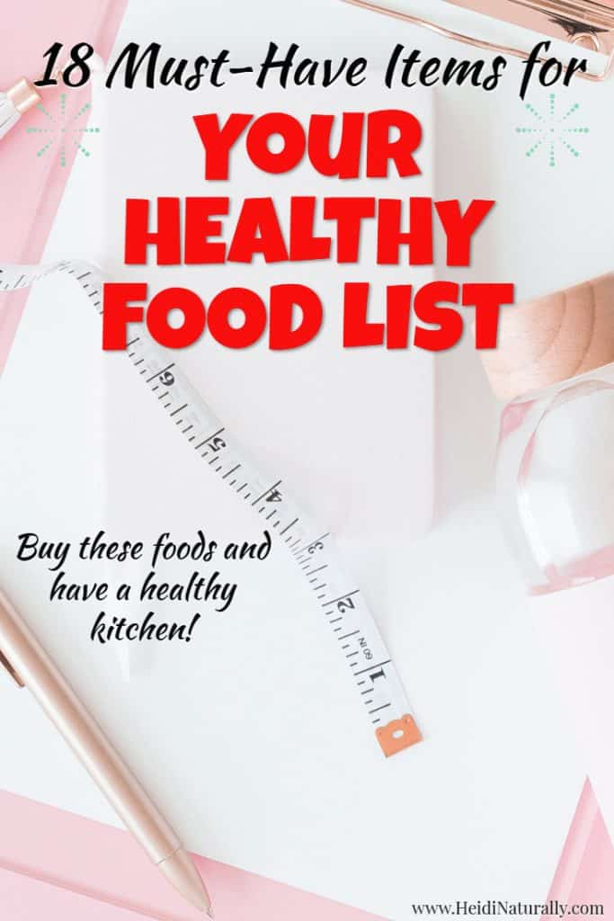 healthy food list