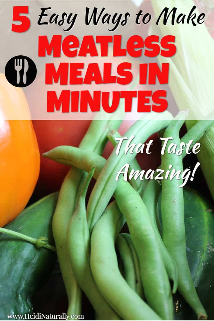 Find out the easiest ways to make a meatless dinner in minutes. Learn the simple vegan recipes and tips to use to cook delicious and satisfying meals. #meatless #dinner #vegan
