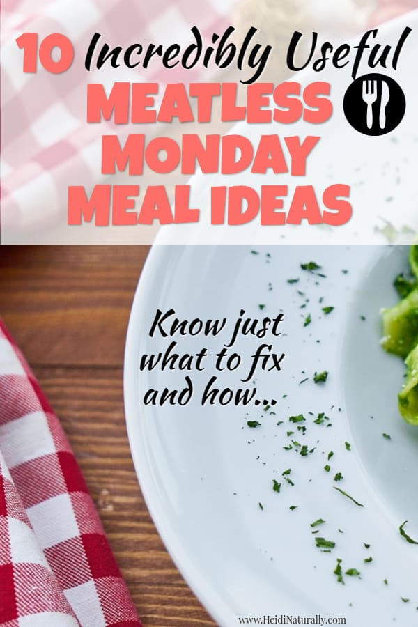 Find out how to make great meatless meals and how to modify your favorite recipes. Learn the pros, cons, health benefits and more of eating vegetarian. #meatless #Monday #vegetarian #vegan #recipes