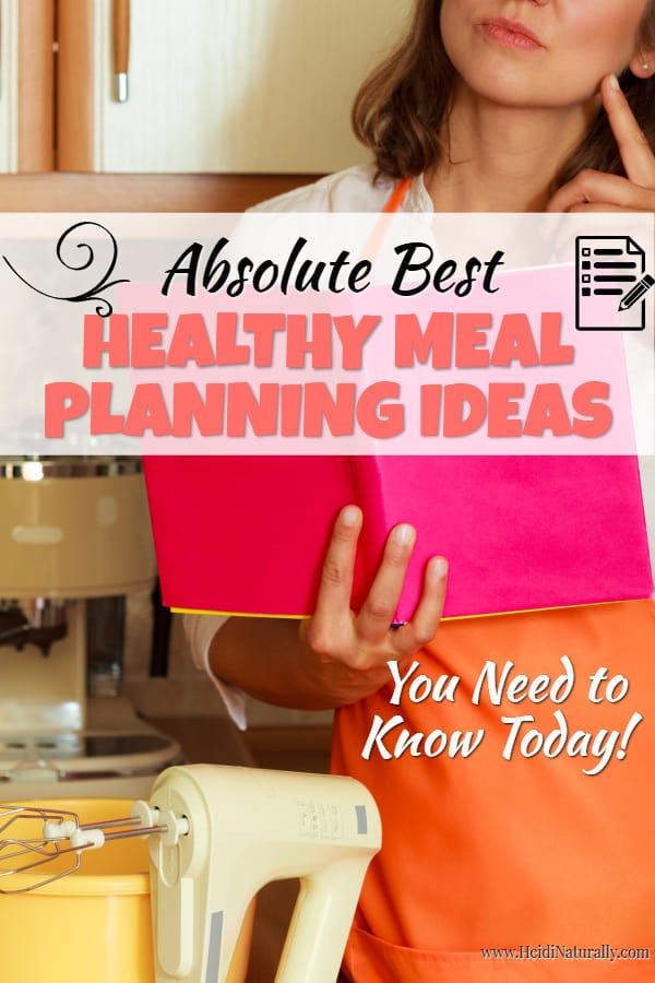 Find out how to plan healthy meals even if you are incredibly busy. Healthy meal planning is simple and easy when you know how to organize your meals. #healthy #mealplanning #dinner #eathealthy #busyfamily